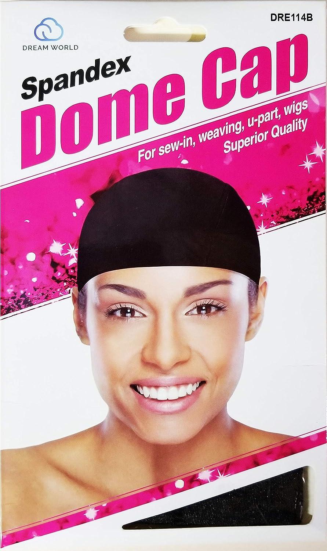 Amazon.com  Dream World Spandex Dome Cap - Black  Beauty eedd94a2e