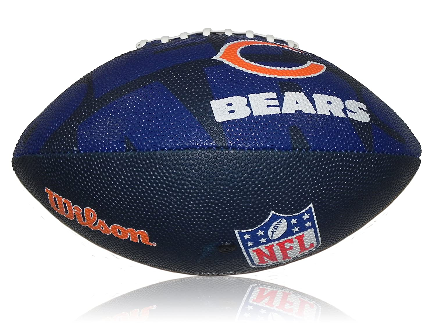 WILSON WL0206824040 - Pallone Ufficiale NFL Junior, con Logo dei Chicago Bears, Multicolore, 5