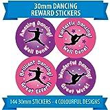 144 x Dancing Reward Stickers Girls PINK PURPLE Theme For Dance School Teachers, Instructors