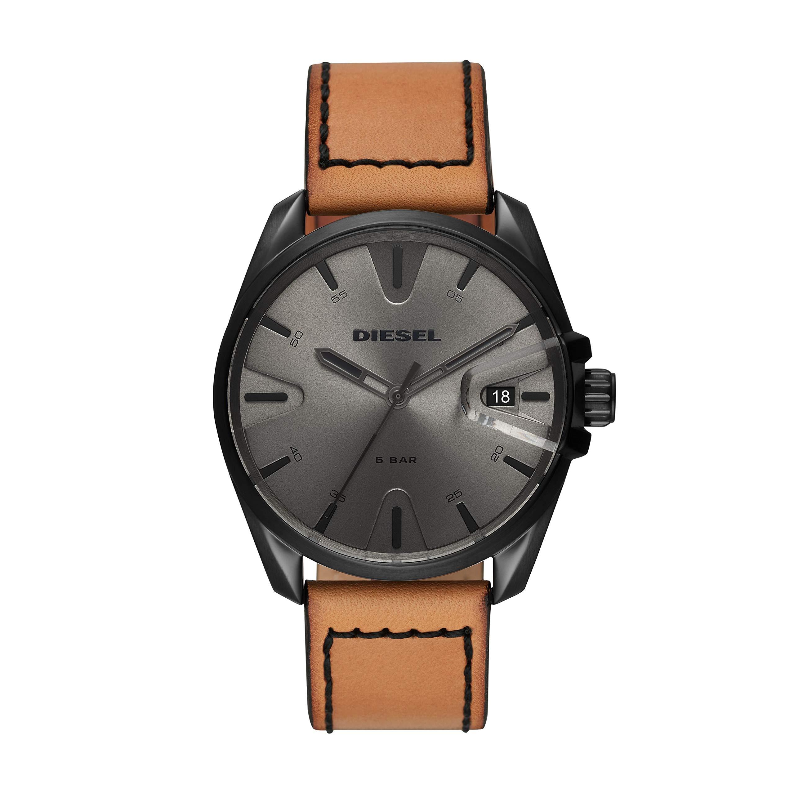Diesel Men's DZ1863 MS9 Analog Display Quartz Brown Watch