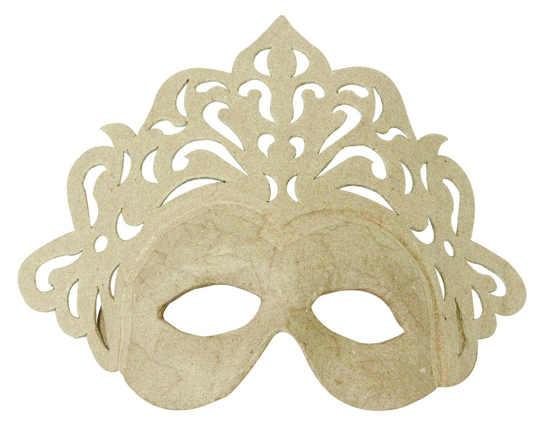 Decopatch, maschera da principessa in cartapesta, 8x 23x 18cm, colore marrone AC786C