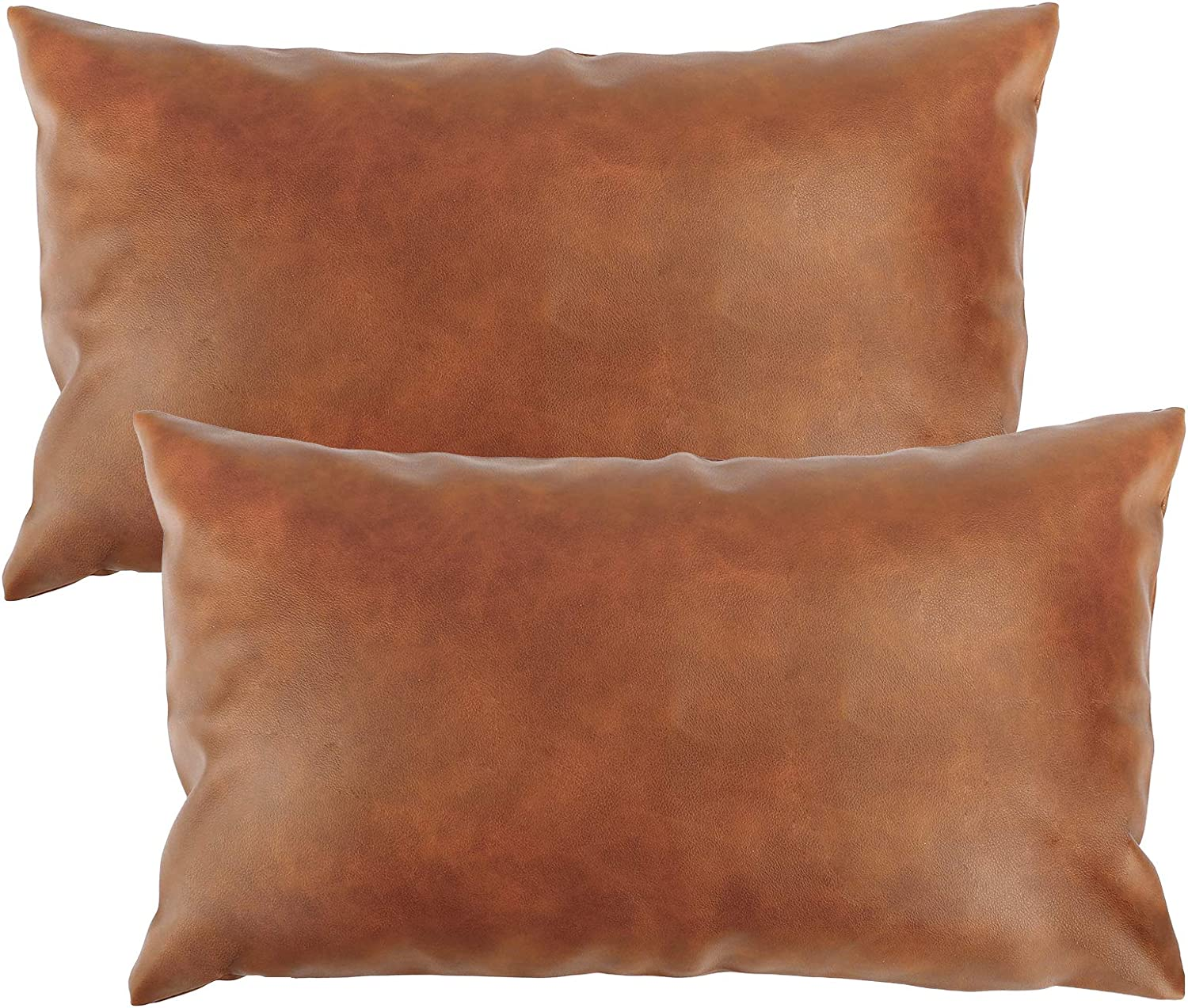 cowhide pillow patchwork pillow B Genuine leather decorative leather pillow earth tone 18 X 12 LUMBAR man-cave gift