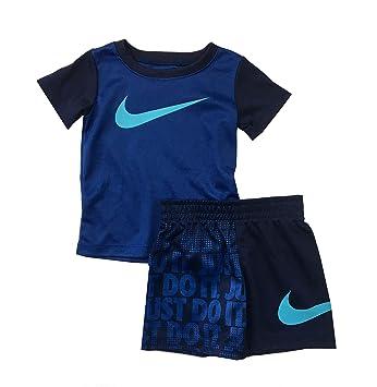 18a91b866b8e8 Nike Just Do It pour bébé garçon Tee Shirt et Short Ensemble Deux pièces  Comet Bleu