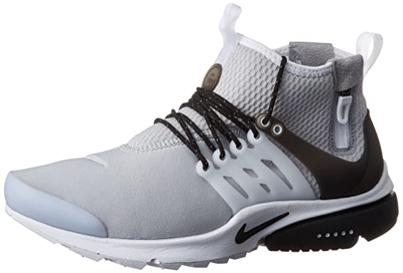 official photos 6843c 6d73e Image Unavailable. Image not available for. Colour  Nike Men s Air Presto  Mid Utility Wolf Grey Black White ...
