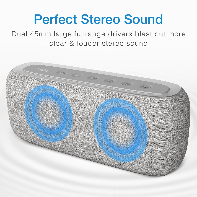 HAVIT Bluetooth Lautsprecher Box mit 10W Dual-Treiber Reinem Bass ...
