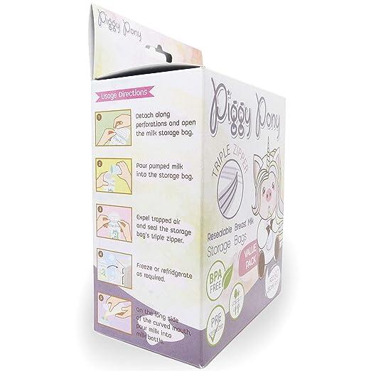 Amazon.com: Bolsas de almacenamiento de leche materna, con ...