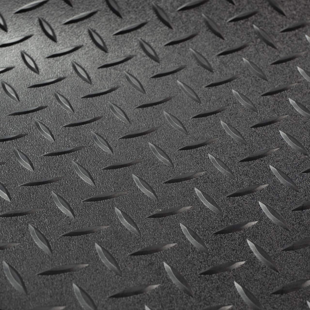 Rubber Flooring 8 2 Wide Garage Flooring Car Show Trailer Flooring Black, 15 Toy Hauler Flooring RV Trailer Diamond Plate Pattern Flooring Gym Flooring Black