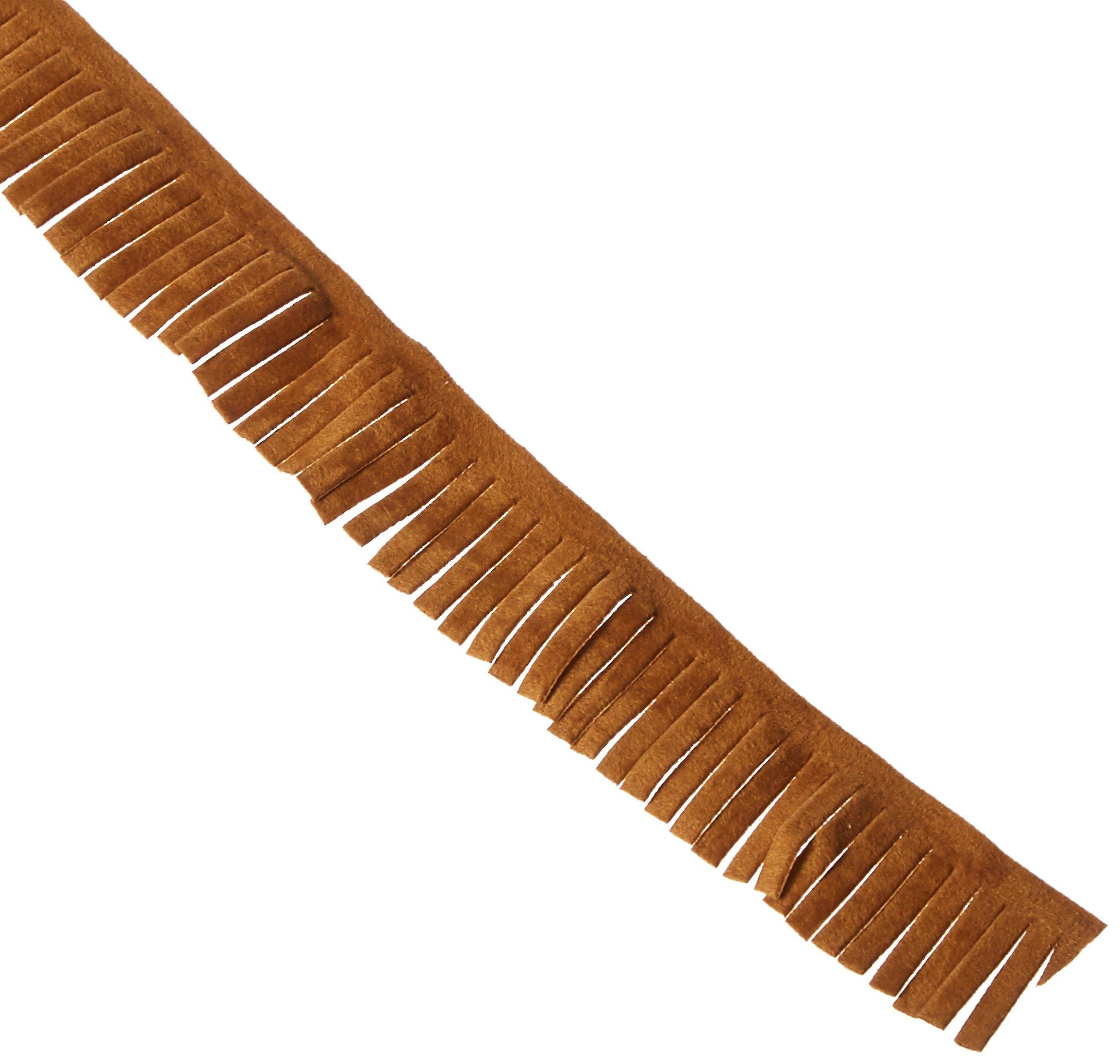 Decorative Trimmings Brown Faux Suede Fringe Trim 1'' X18yd, 1'' x 18 yd