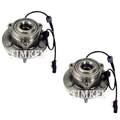 Pair Set 2 Front Timken Wheel Bearing Hub Kit for Cadillac Chevy 4WD 4Wheel ABS: Automotive