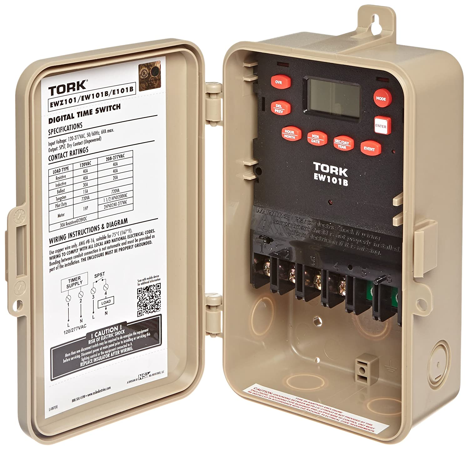 81Tdd00FrvL._SL1500_ amazon com ew series multipurpose control 7 day time switch, 120 tork ewz101 wiring diagram at webbmarketing.co