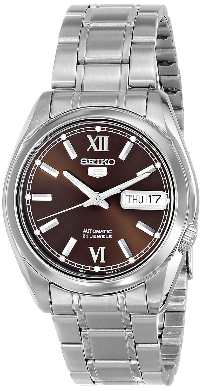 Seiko Reloj Análogo clásico para Hombre de Automático con Correa en Acero Inoxidable SNKL53: Amazon.es: Relojes