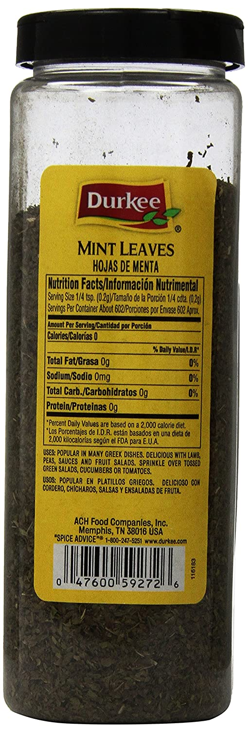 Amazon.com : Durkee Mint Leaves, 4.25-Ounce : Spices And Seasonings : Grocery & Gourmet Food
