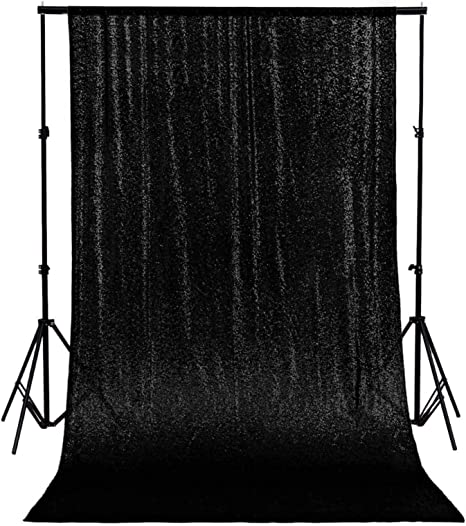 Partisout Sequin Backdrop Curtain 4ftx7ft Sequin Backdrop Sequence/ Backdrop Party Glitter Backdrop Sparkle/ Backdrop Wedding Photo Backdrop and Shimmer Backdrop