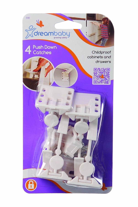 Dreambaby Push Down Catches (Pack Of 4, White) Dreambaby® F197