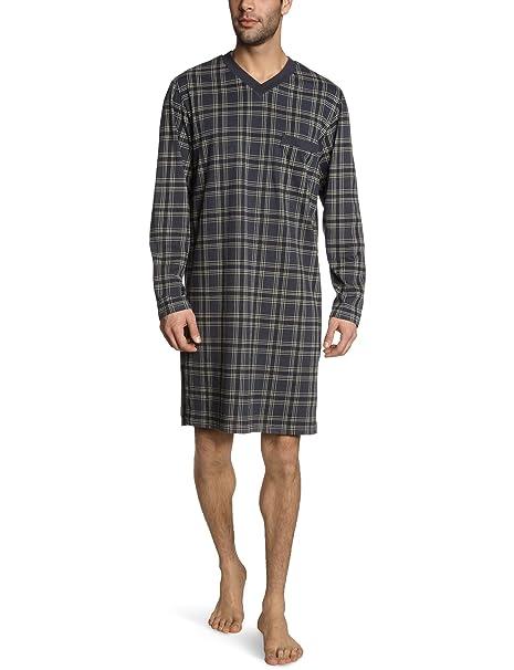 Schiesser - Camiseta de pijama para hombre, talla S, color gris (graphit 207