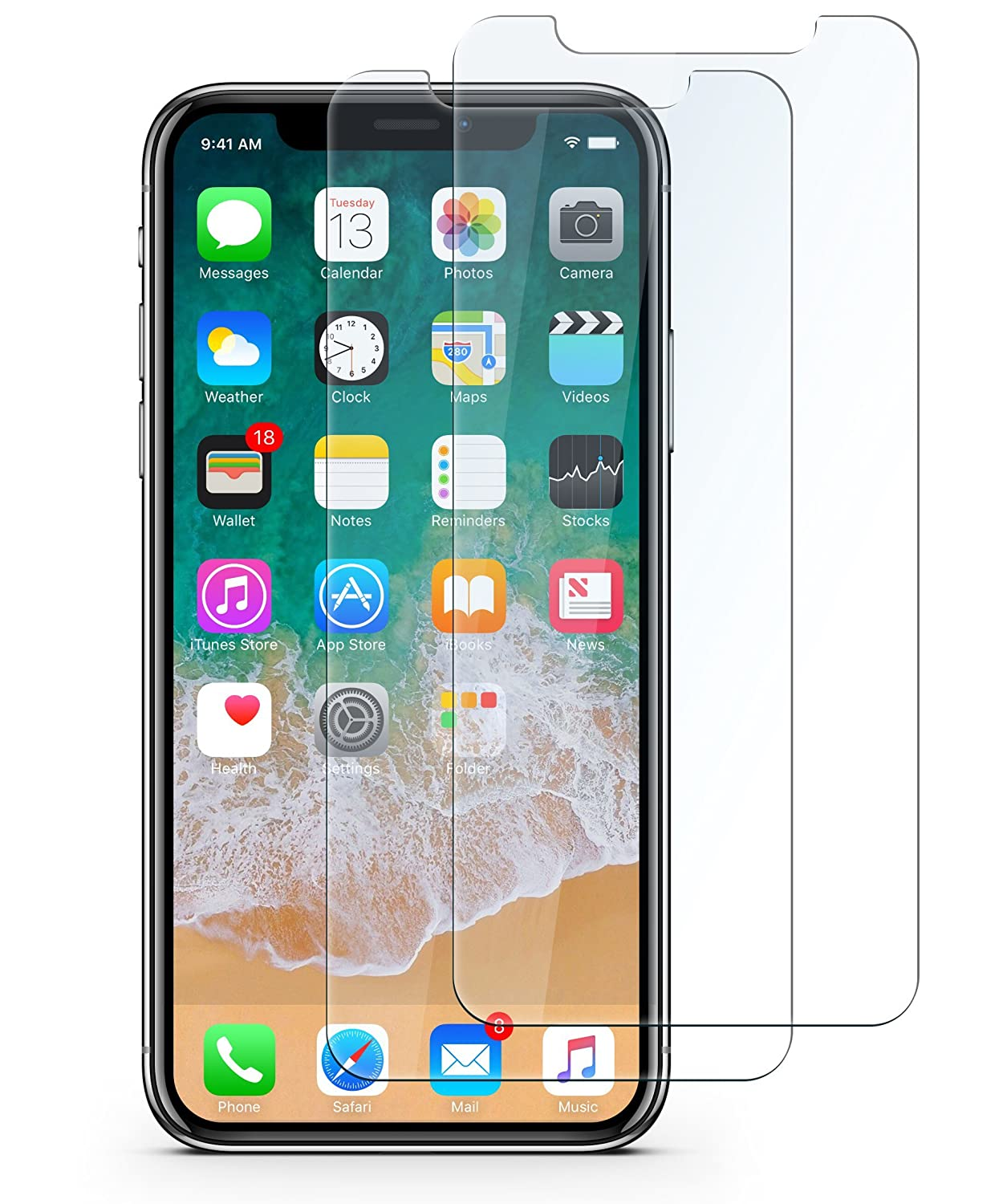 wholesale dealer 65967 99b48 VOTALA iPhone X Tempered Glass [2 PACK] iPhone X Screen Protector iPhone X  Glass Screen Protector. 9H hardness 3D Touch Compatible Best Glass for Your  ...