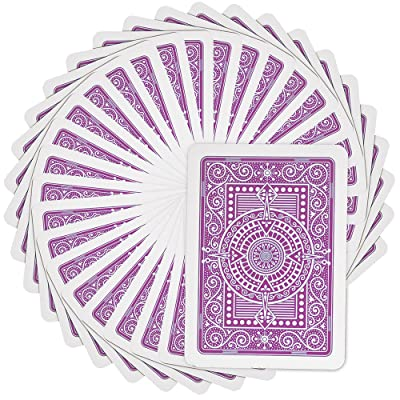 Modiano Texas Poker Hold'em 100% Plastic Playing Cards, Jumbo Index, Poker Wide Size (Purple): Sports & Outdoors