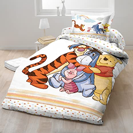 Copripiumino Singolo Winnie The Pooh.Copripiumino Cotone Winnie The Pooh Disney 140x200 Cm Federa 70x90