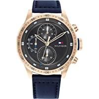 Tommy Hilfiger Men's Analog Quartz Watch with Leather Strap 1791808