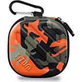 TIZUM Earphone Carrying Case - Multi Purpose Pocket Storage Travel Organizer for Earphone, Pen Drives, Memory Card, Cable (Camouflage Orange)