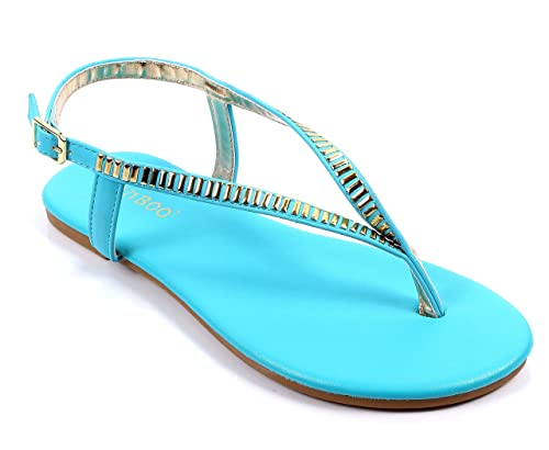08af09f4572f4 BAMBOO Casual Side Buckle Ankle Strap Ladies Womens Sandals Slingbacks  Flats Shoes New Without Box (