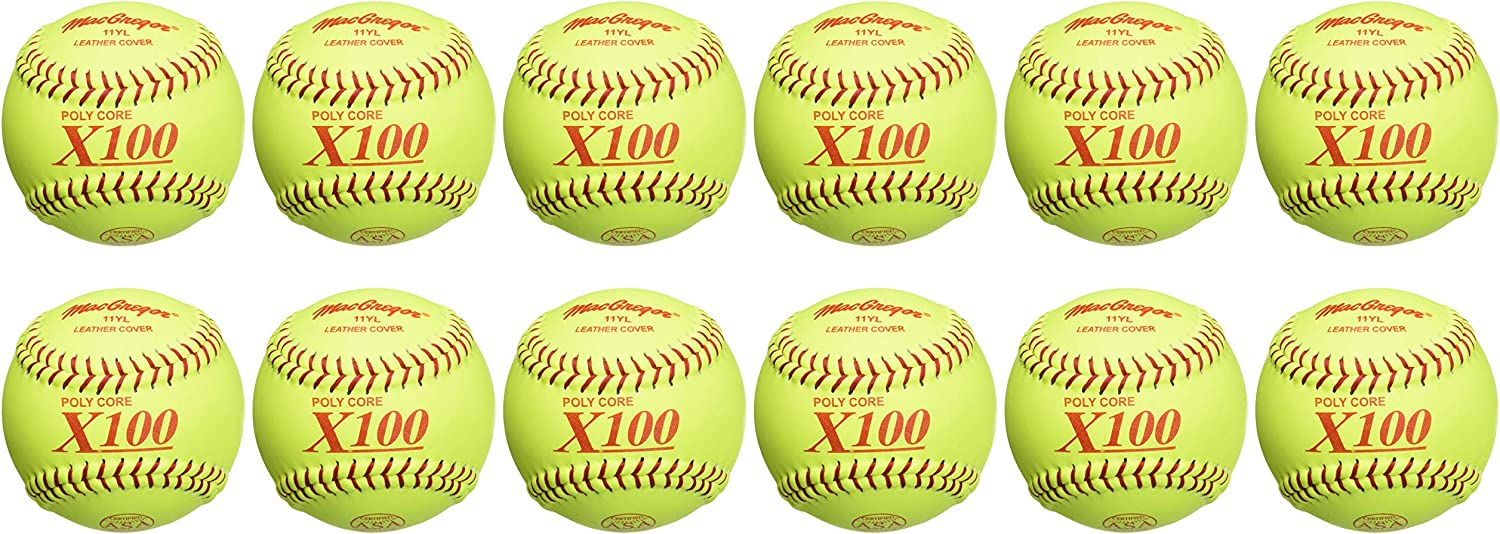 MacGregor ASA Fast Pitch Softball (One Dozen) : Sports & Outdoors