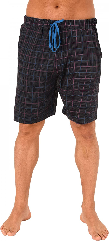 Karo Optik Mix /& Match NORMANN W/ÄSCHEFABRIK Herren Pyjama Hose kurz 124 90 524