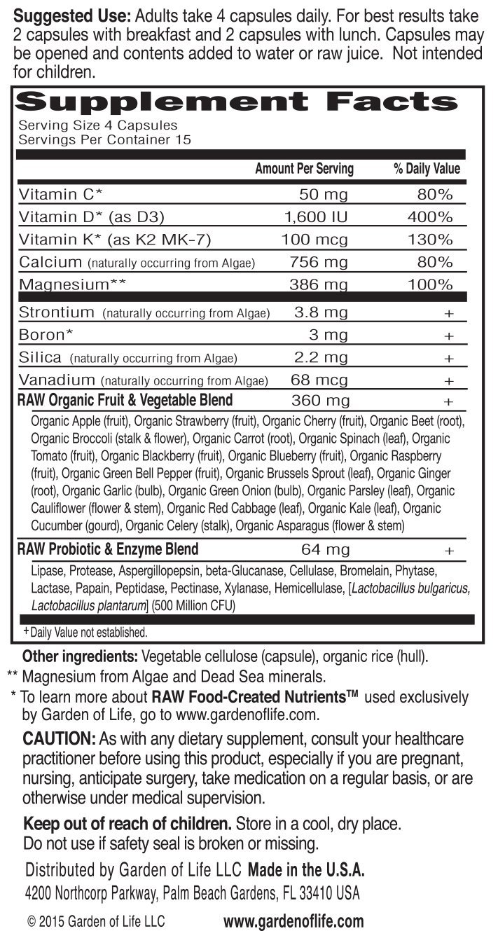 Amazon.com: Código de Vitamina Raw Calcio – 60 Cápsulas ...