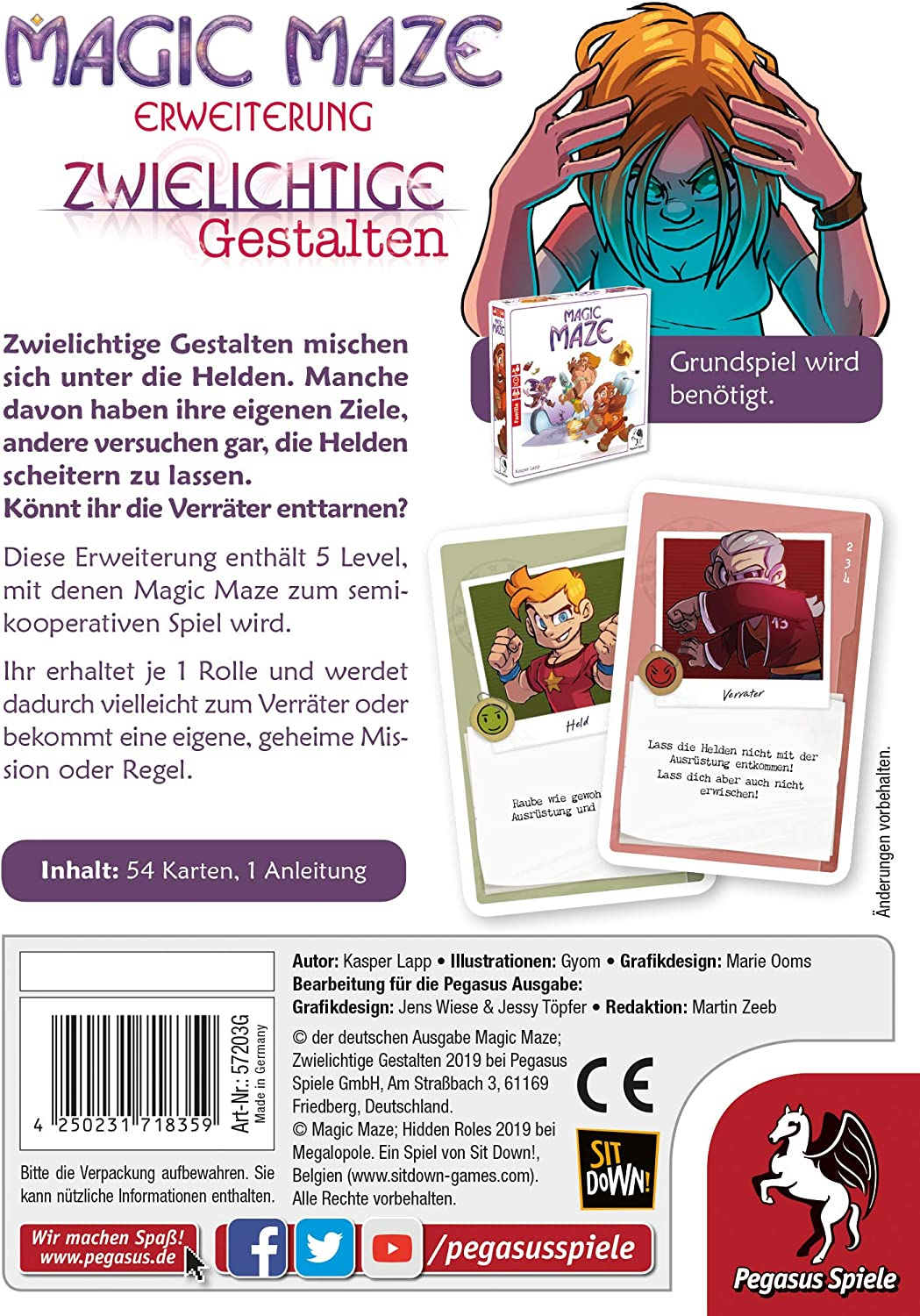 PEG Magic Maze Zwielichtige Gesta. Erwei | 57203G: Amazon.es: Juguetes y juegos