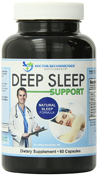 Deep Sleep Support - with Melatonin - Doctor Recommended Formula 60 Capsules - A Blend of
