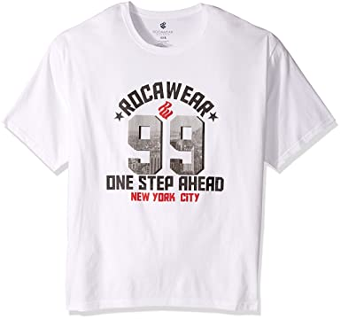 Rocawear Mens Big And Tall 99 City Short Sleeve Tee White