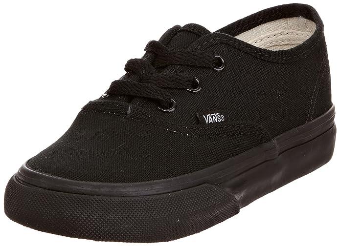 Vans K Authentic Unisex – Kinder Sneaker Schwarz/Schwarz (Blk/Blk Enr)