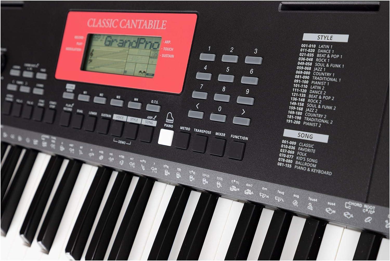 Teclado Classic Cantabile LK-290 teclas luminosas: Amazon.es ...