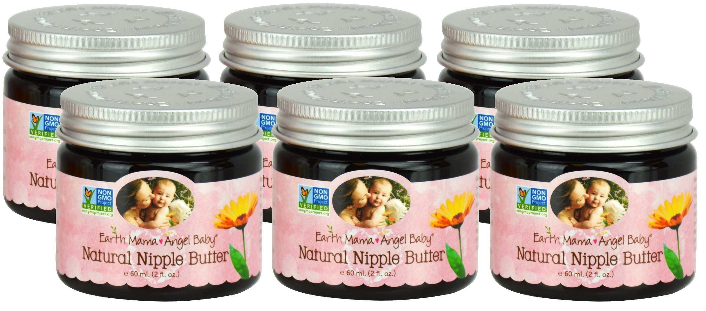 Bulk Saver Pack 6x2 oz : Earth Mama Angel Baby Natural Nipple Butter