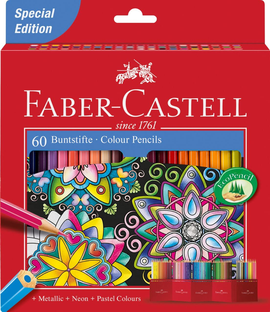 Pencils Faber Castell Colour Polychromos Pastel Artists Set 60 Quality Pack NEW