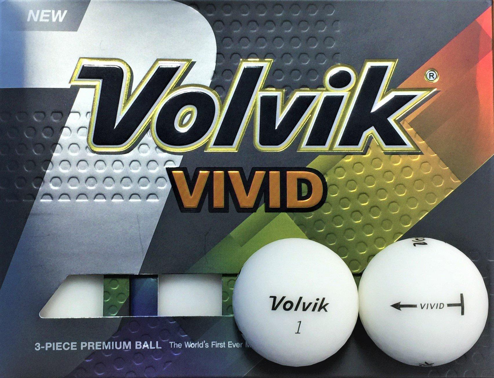 Volvik Vivid Golf Balls 1-Dozen White by Volvik