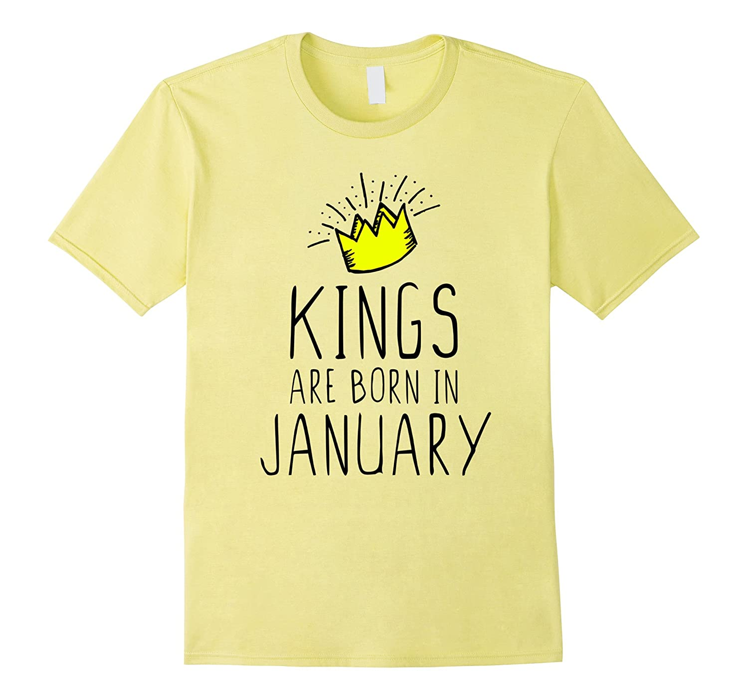 Kings Are Born In January Birthday T Shirt TH