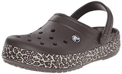 Crocs Crocband Animal Print Unisex Adults' Clogs - (Espresso/ ) Outlet Recommend YCV2eVVuQ