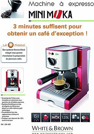 MiniMoka CM-1637 - Cafetera Express, 15 bares, manual: Amazon.es: Hogar