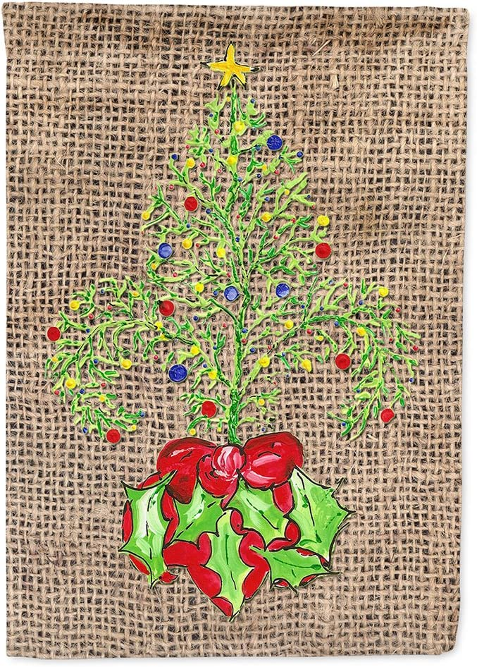 Caroline's Treasures 8745GF Christmas Tree Fleur de lis Flag Garden Size, Small, Multicolor