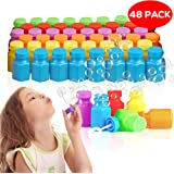 THE TWIDDLERS 48 mini bolle di sapone giocattolo per feste - Ideali per riempire borse regalo per feste di compleanno e Natale - Confezionati in scatola