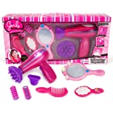 Liberty Imports Vogue Girls Beauty Salon Fashion Play Set with Hairdryer, Mirror & Styling Accessories