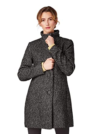 TOM TAILOR DENIM Damen Biker Coat Mantel Jacke Größe L
