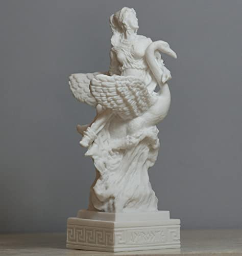 Aphrodite Swan Greek Goddess Venus Statue Alabaster Sculpture 6.3 in