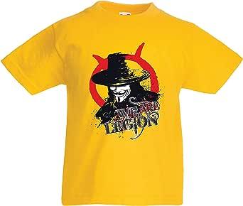 lepni.me Camiseta para Niños Somos la Legión Vendetta The Anonymous