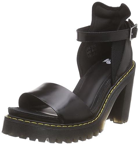 nowy autentyczny wykwintny styl niepokonany x Dr. Martens Medea Leather Platform Women's Sandals (Women's ...