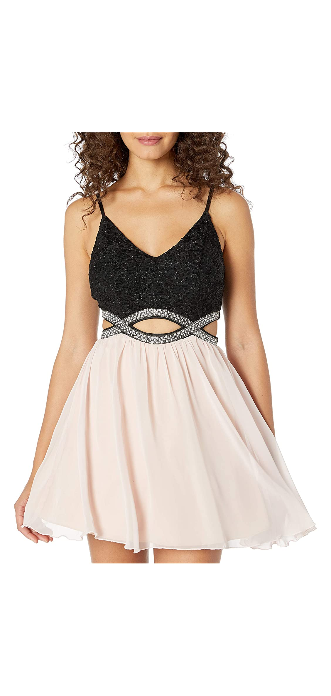 Party Dress With Waist Cut Outs Junior's
