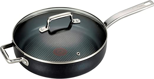 T-fal C51705 ProGrade Titanium Nonstick Thermo-Spot Dishwasher Safe PFOA Free with Induction Base Fry Pan Cookware Black 10-Inch 2100094049