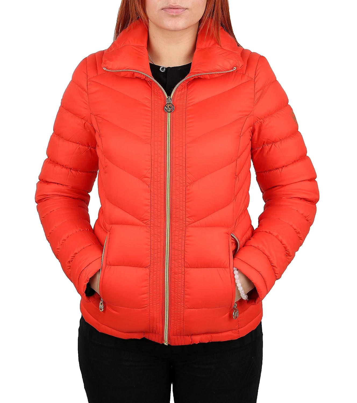 Michael Michael Kors Orange Down Packable Coat (XL) at Amazon ...