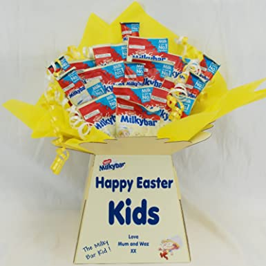 d88ea35a7bc46 Easter Milkybar Sweet Chocolate Bouquet With Personalised Bouquet ...